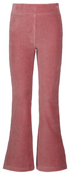 kinderlegging flared corduroy roze 110/116 - 30817533 - HEMA
