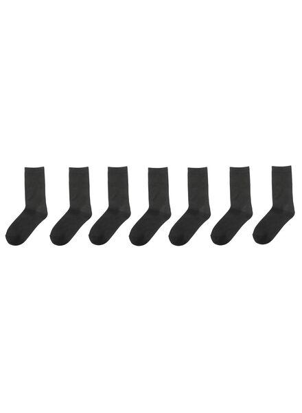7-pak damessokken zwart zwart - 1000001568 - HEMA
