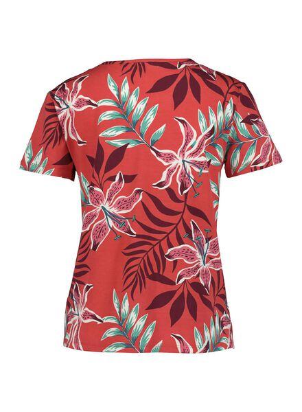 dames t-shirt rood rood - 1000014474 - HEMA