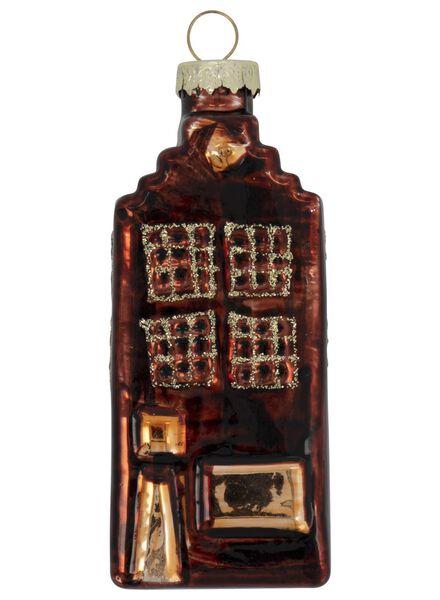 glazen kersthanger Amsterdams huisje 3x4x9.5 - 25104800 - HEMA
