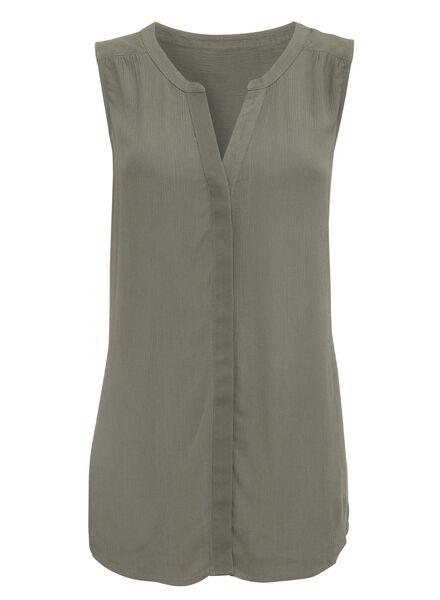 dames blouse legergroen - 1000007658 - HEMA