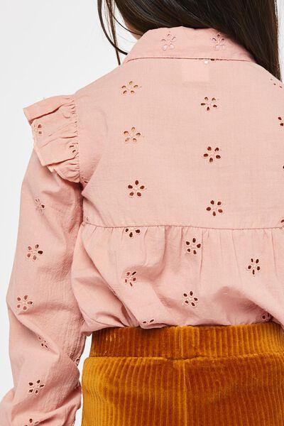 kinderblouse broderie roze roze - 1000021955 - HEMA