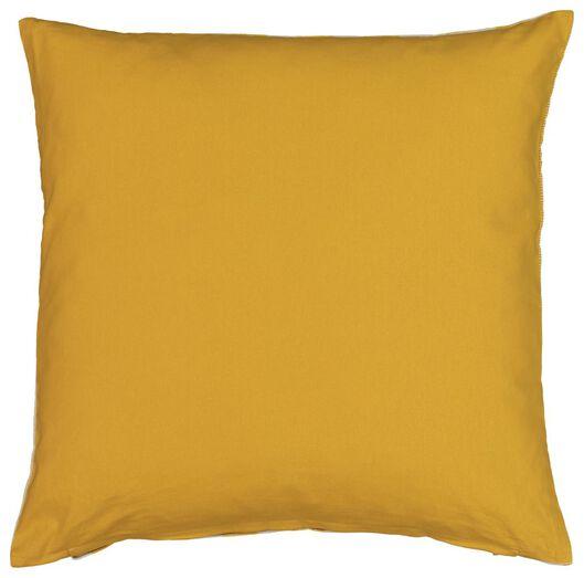 kussenhoes - 50x50 - streep - geel/wit - 7320001 - HEMA