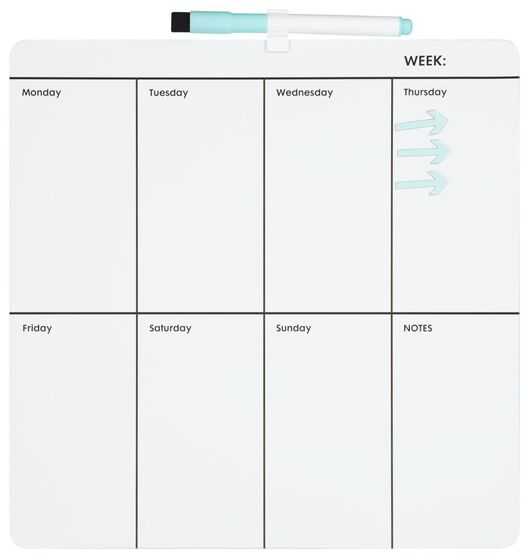 whiteboard weekplanner 29.2 x 29.2 - 14822218 - HEMA