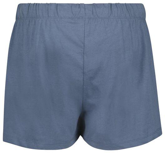 dames nachtshorts - 2 stuks blauw S - 23400841 - HEMA