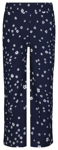 kinderbroek bloem donkerblauw donkerblauw - 1000023309 - HEMA