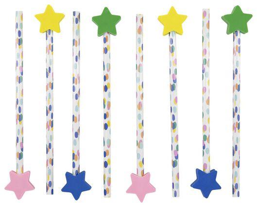 uitdeelcadeautjes potloden - 8 stuks - 14200297 - HEMA
