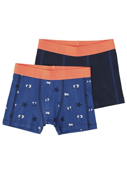 2-pak kinderboxers donkerblauw donkerblauw - 1000014977 - HEMA