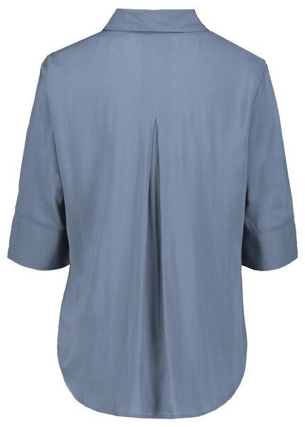 damesblouse blauw blauw - 1000022978 - HEMA