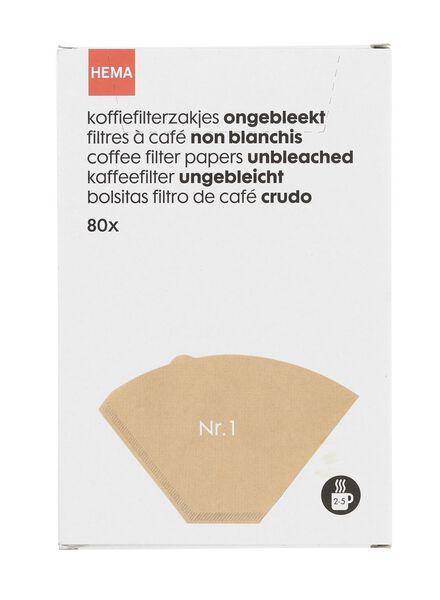 koffiefilterzakjes ongbleekt Nr. 1 - 20560200 - HEMA