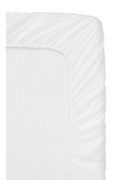hoeslaken topmatras - zacht katoen - 160 x 200 cm - wit - 5100138 - HEMA