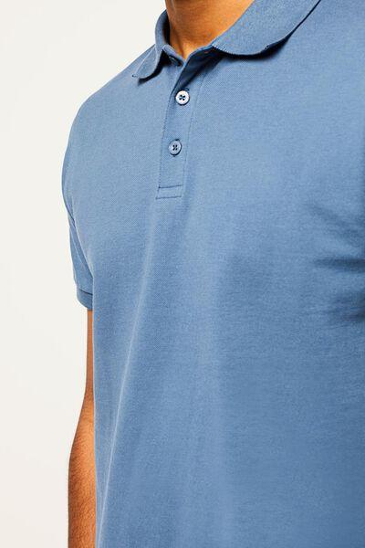 herenpolo piqué blauw blauw - 1000022448 - HEMA