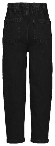 kinderjeans paperbag zwart zwart - 1000024979 - HEMA