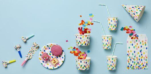 plastic lepels herbruikbaar - confetti - 4 stuks - 14200494 - HEMA