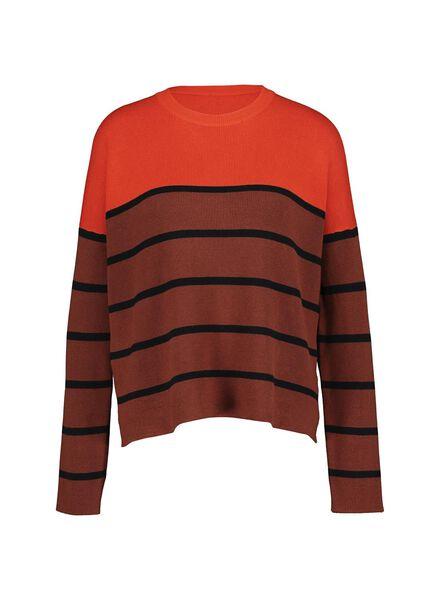 damestrui gebreid oranje oranje - 1000014755 - HEMA