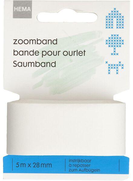 Zoomband 5mx28mm wit