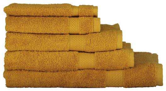 handdoeken - zware kwaliteit okergeel okergeel - 1000015169 - HEMA