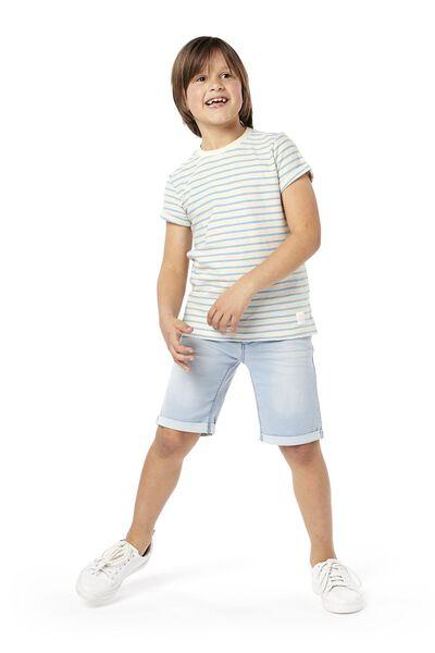 kindershort comfy fit lichtblauw 134/140 - 30763134 - HEMA