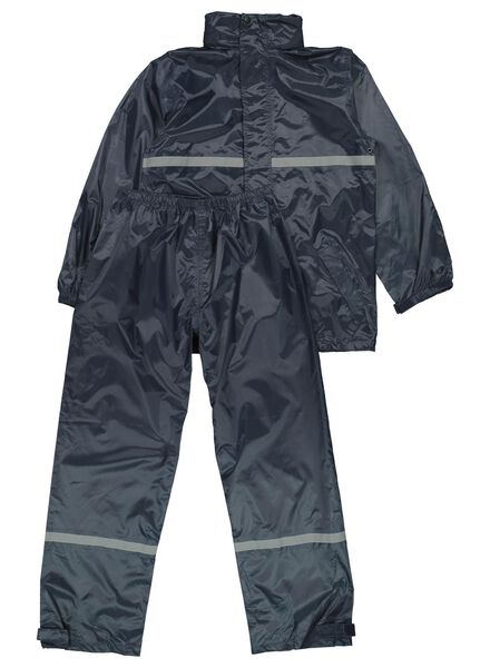 regenpak voor kinderen donkerblauw 158/164 - 18401104 - HEMA