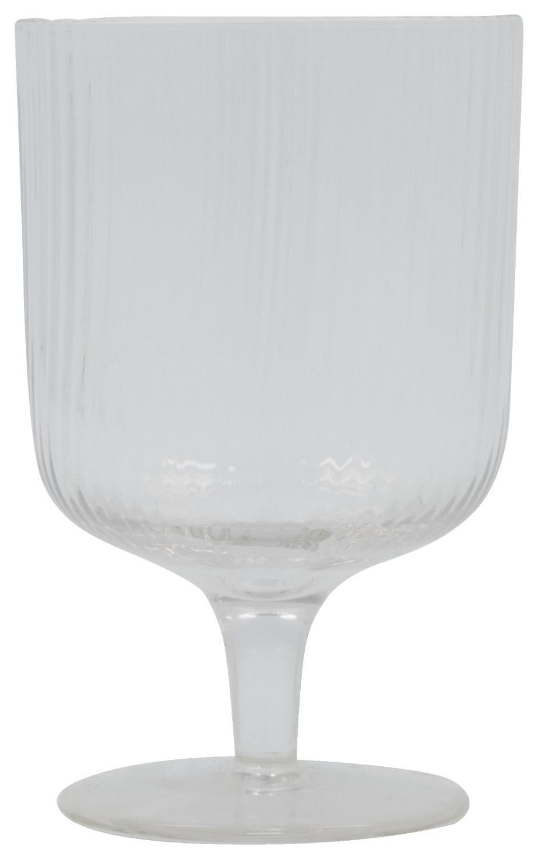HEMA Wijnglas Bergen Streep Reliëf 250ml