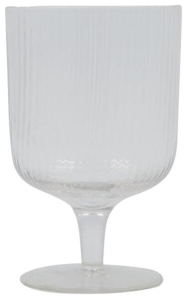 wijnglas Bergen streep reliëf 250ml - 9401051 - HEMA