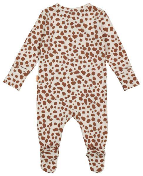 newborn jumpsuit rib met bamboe gebroken wit 44 - 33413411 - HEMA