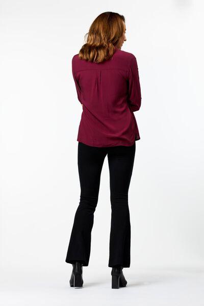 damesblouse bordeauxrood XL - 36223919 - HEMA