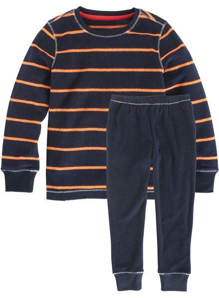 kinder pyjama donkerblauw donkerblauw - 1000002774 - HEMA