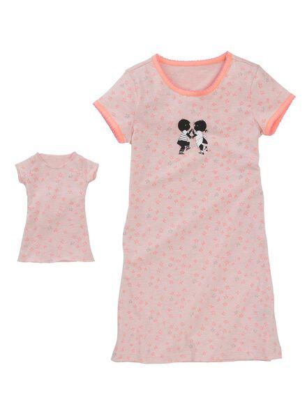 kindernachthemd lichtroze lichtroze - 1000002758 - HEMA