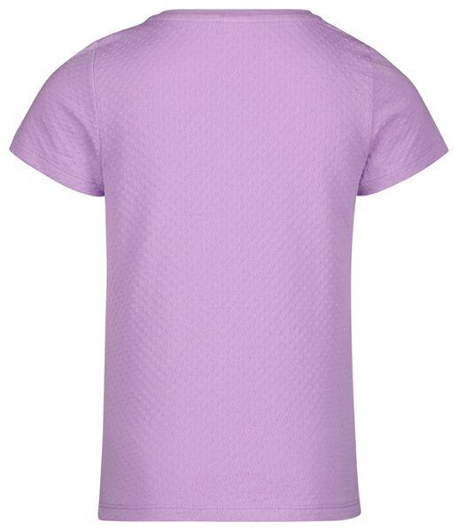 kinder t-shirt ruffle lila 134/140 - 30803543 - HEMA