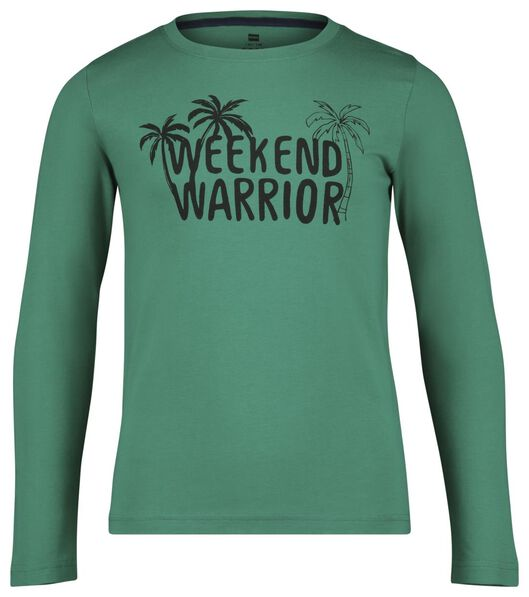 kinderpyjama 'weekend warrior' groen groen - 1000022779 - HEMA
