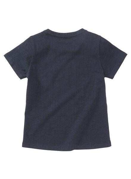 kinder t-shirt donkerblauw donkerblauw - 1000013501 - HEMA