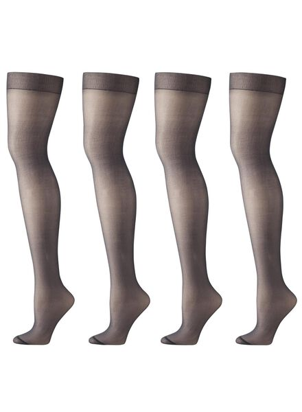 4-pak mat panty's 20 denier zwart zwart - 1000000741 - HEMA