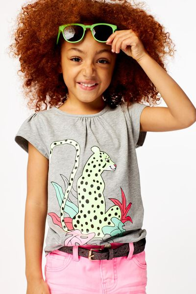kinder t-shirt print grijs 98/104 - 30865837 - HEMA