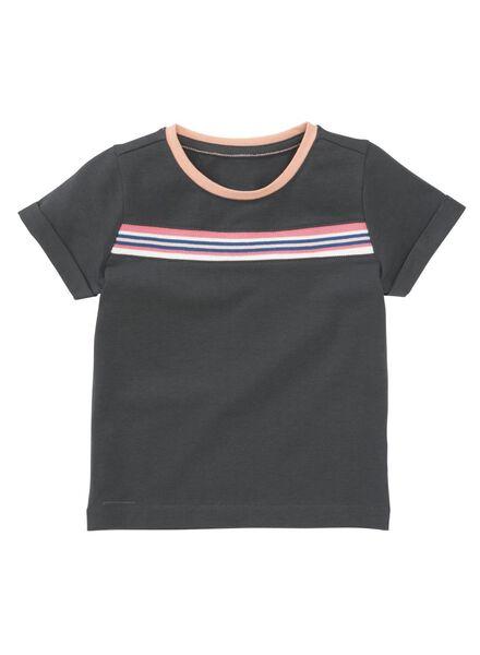 kinder t-shirt donkerblauw donkerblauw - 1000011216 - HEMA