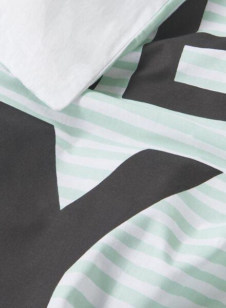 kinderdekbedovertrek - zacht katoen - 140 x 200 cm - groen streep - 5750124 - HEMA