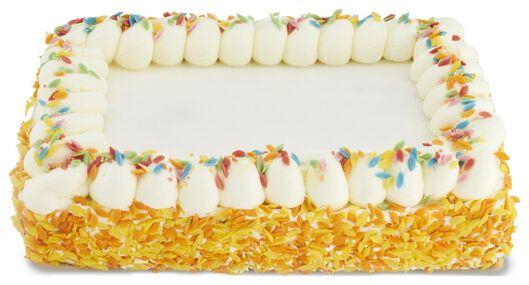 Fototaart aardbei met gekleurde druppels 16 p.