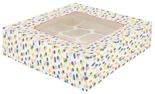 Taartdoos 28x28x7.5 confetti - in Taartdozen