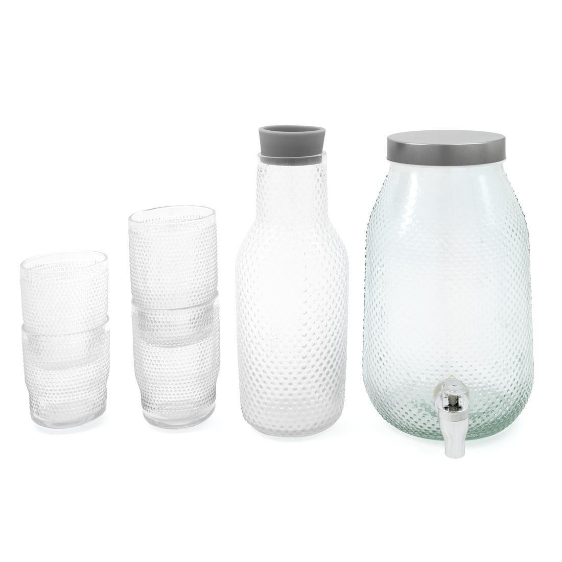 HEMA Longdrink Glas Bergen Bolletjes Reliëf 340ml