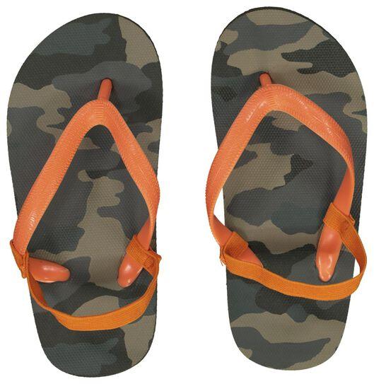 kinder teenslippers camouflage donkergroen donkergroen - 1000023105 - HEMA