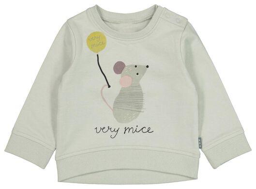 newborn sweater muis blauw - 1000021019 - HEMA