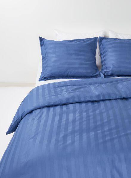 dekbedovertrek - hotel katoen satijn - 200 x 200 cm - streep blauw 200 x 200 - 5750050 - HEMA