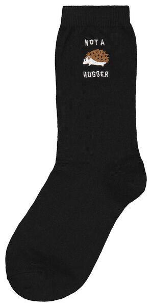 damessokken egels zwart zwart - 1000025209 - HEMA