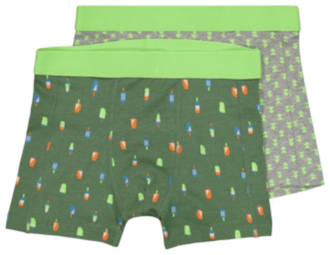 HEMA Kinderboxers Ijsjes 2 Stuks Groen (groen)