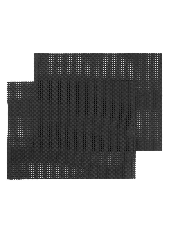 HEMA Placemats - 32 X 42 - Kunststof - Zwart - 2 Stuks (zwart)