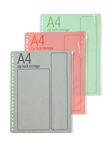 3-pak a4 ziplock insteekhoezen - 14800141 - HEMA