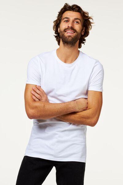 2-pak heren t-shirts wit M - 34277064 - HEMA