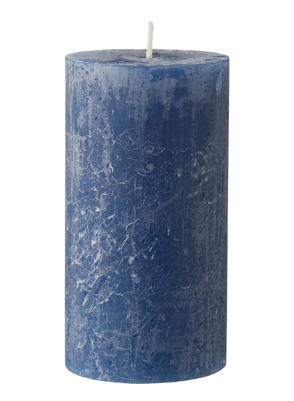 HEMA Rustieke Kaars - 13 X 7 Cm - Blauw (bleu)