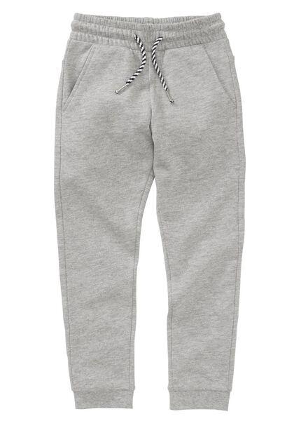kinder sweatbroek grijsmelange grijsmelange - 1000004036 - HEMA