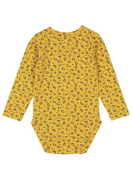 romper biologisch katoen stretch geel geel - 1000015321 - HEMA